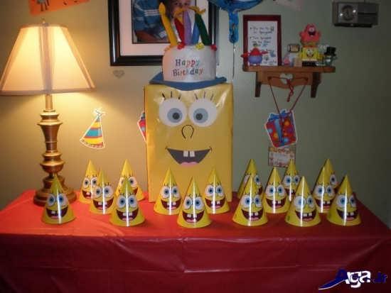 تزیینات جشن تولد با تصاویر باب اسفنجی