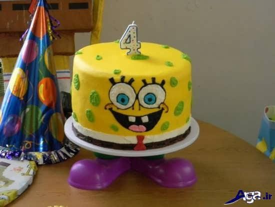 مدل کیک تولد باب اسفنجی