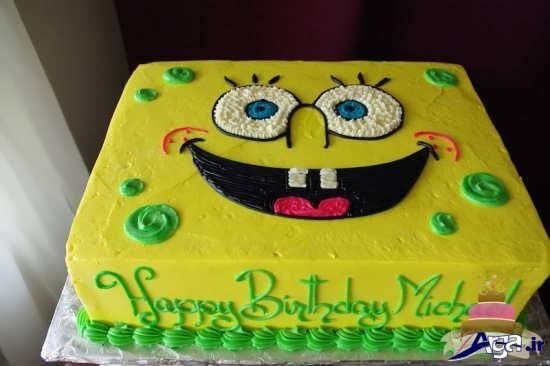 کیک تولد با تم باب اسفنجی