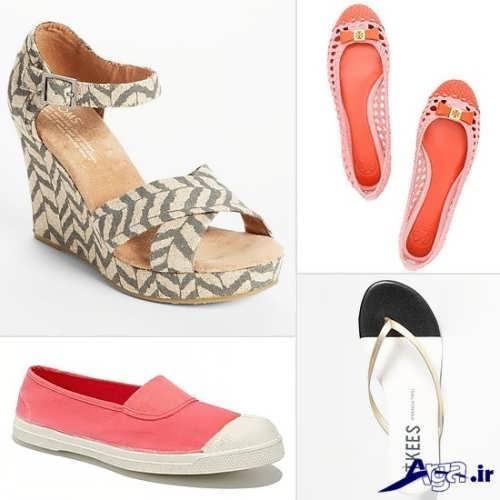 انواع کفش های راحتی و پاشنه بلند تابستانی زنانه و دخترانه