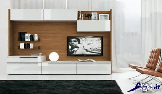میز تلویزیون های دیواری چوبی