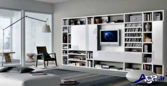 میز تلویزیون دیواری شیک و زیبا