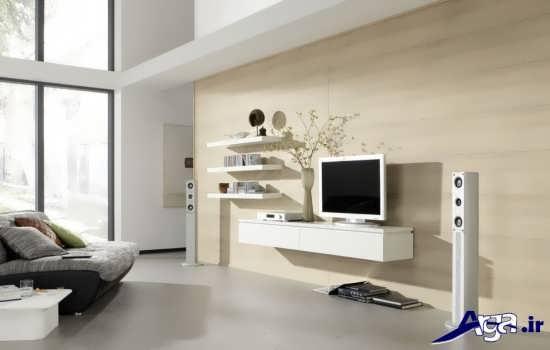میز تلویزیون ساده دیواری