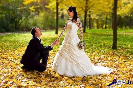 ژست های جدید عروس و داماد