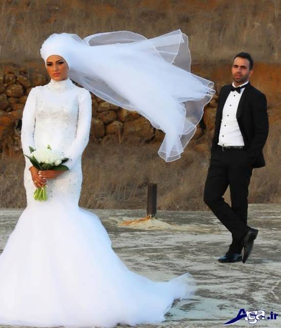 مدل جدید عروس و داماد با لباس پوشیده