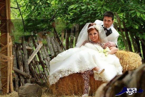 ژست جدید عروس و داماد