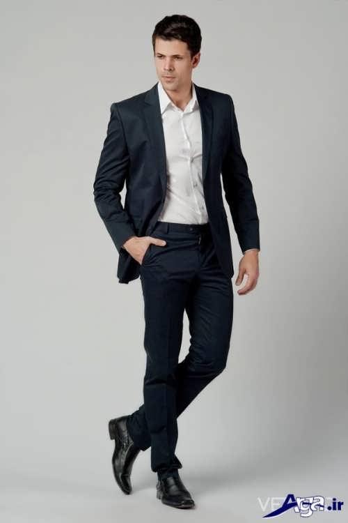 مدل کت و شلوار مردانه با رنگ تیره