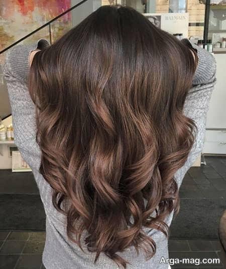 تصاویر رنگ مو تنباکویی