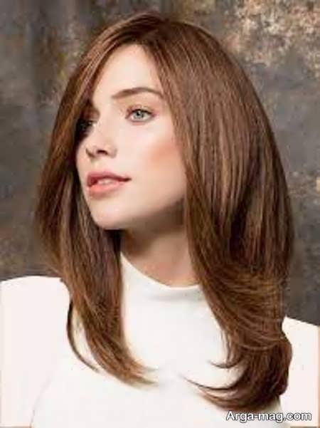 رنگ مو تنباکویی زیبا
