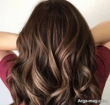 زیباترین رنگ موی تنباکویی