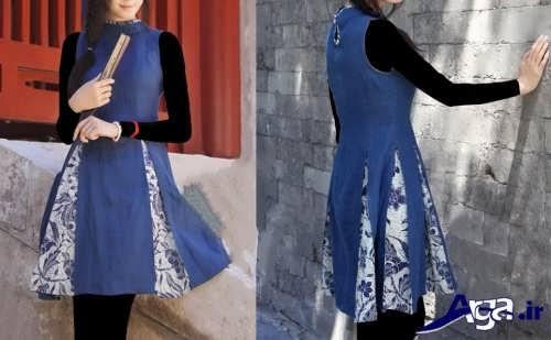 مدل سارافون دخترانه با طرح سنتی بلند