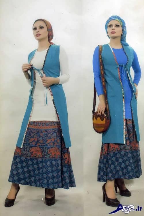 مدل سارافون زیبا سنتی با دامن