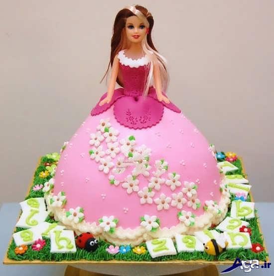 کیک جشن تولد دخترانه پرنسسی