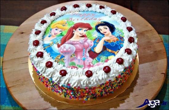 مدل کیک دخترانه با طرح پرنسس