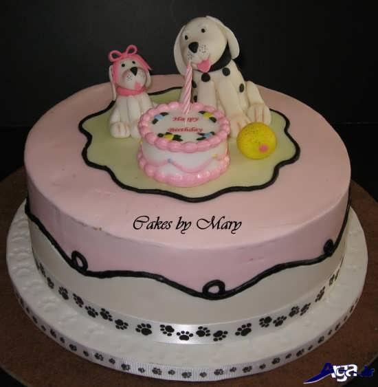 کیک ساده برای جشن تولد