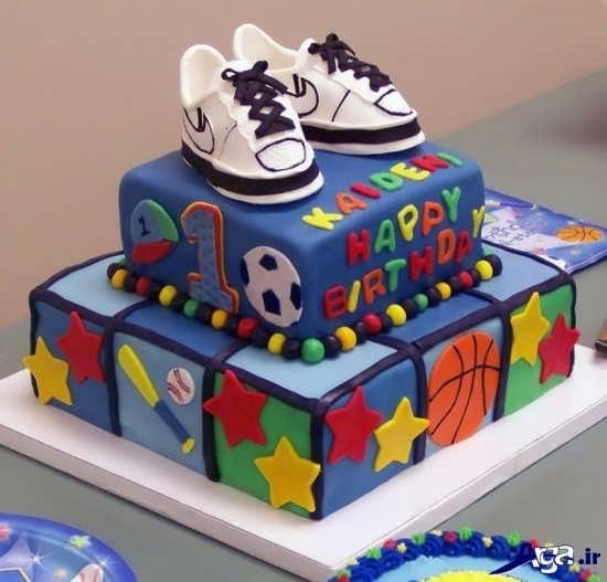 مدل کیک دو طبقه تولد