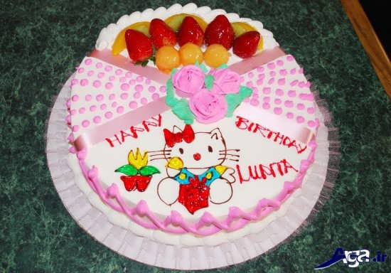 عکس کیک با طرح کیتی