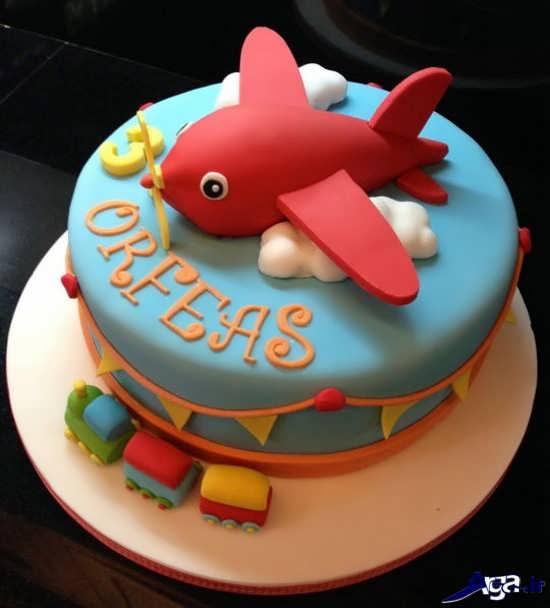 تزیین کیک با خمیر فوندانت برای تولد