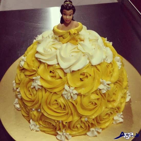کیک عروسکی با طرح لباس باربی
