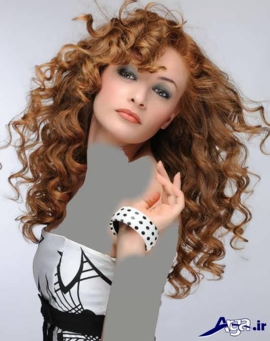 مدل موی قهوه ای فر