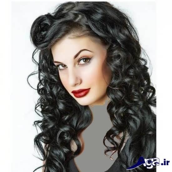 مدل موی مشکی بلند فر