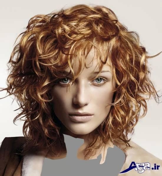 مدل موهای رنگ شده فر