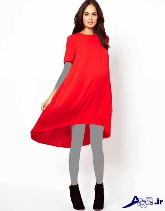 مدل پیراهن قرمز بارداری