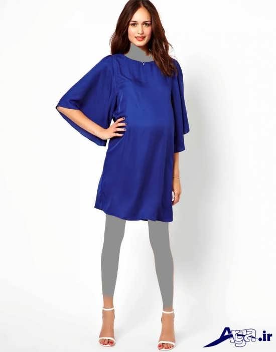 مدل پیراهن آبی بارداری