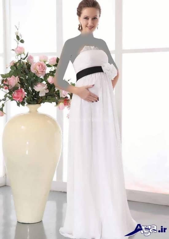 مدل پیراهن بارداری سفید