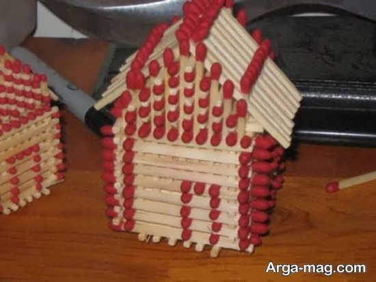 ساخت ماکت خانه با چوب کبریت