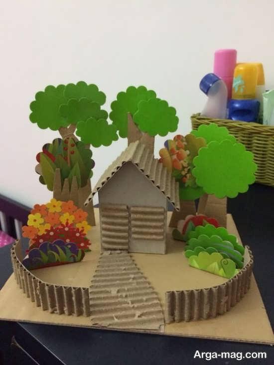 مدلی از ساخت ماکت خانه