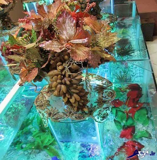 خنچه با تزیین گل های مصنوعی