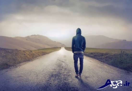 عکس های عاشقانه تنهایی پسر در جاده
