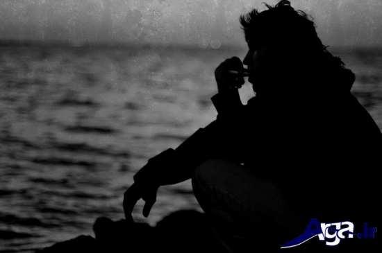 عکس های عاشاقنه تنهایی مرد لب دریا