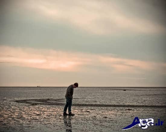 عکس های تنهایی لب دریا