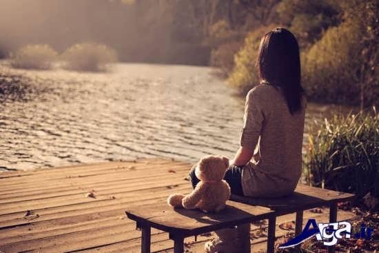 عکس های عاشقانه تنهایی دختر