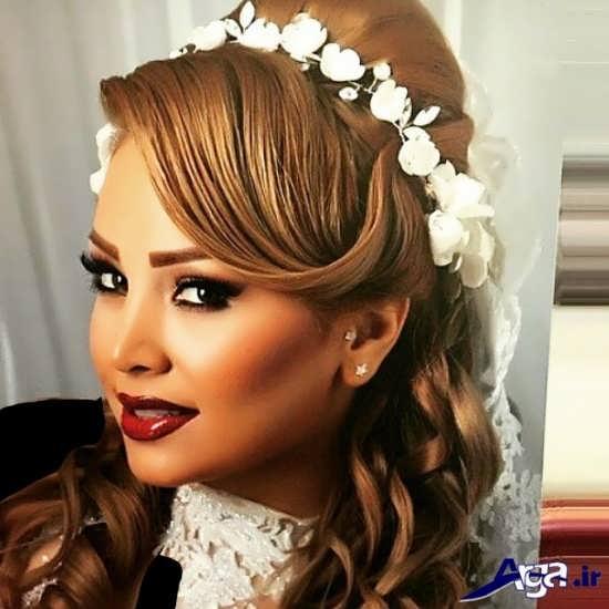 مدل آرایش مو و صورت عروس ایراتی