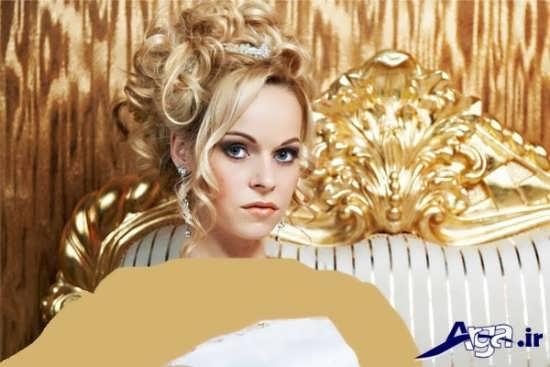 مدل موی بسته و آرایش ساده عروس