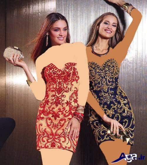 مدل زیبا و جذاب پیراهن زنانه با طرح کوتاه