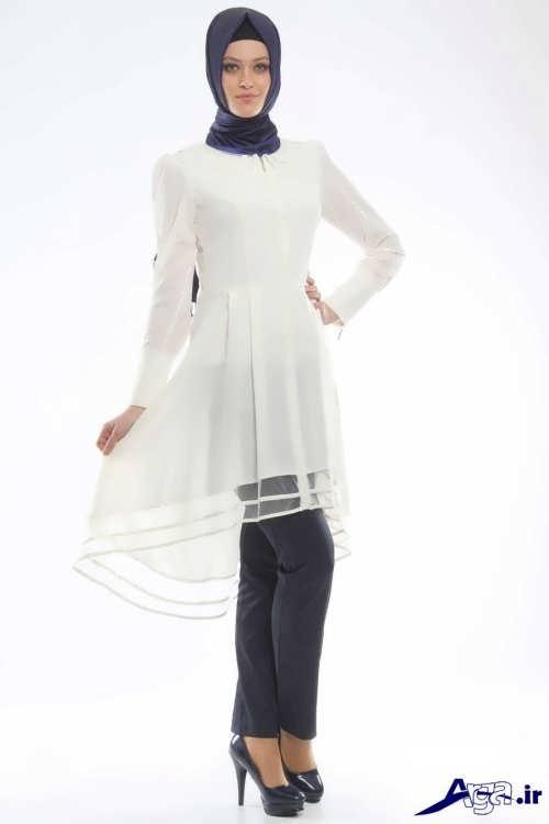 مدل مانتو تابستانی سفید