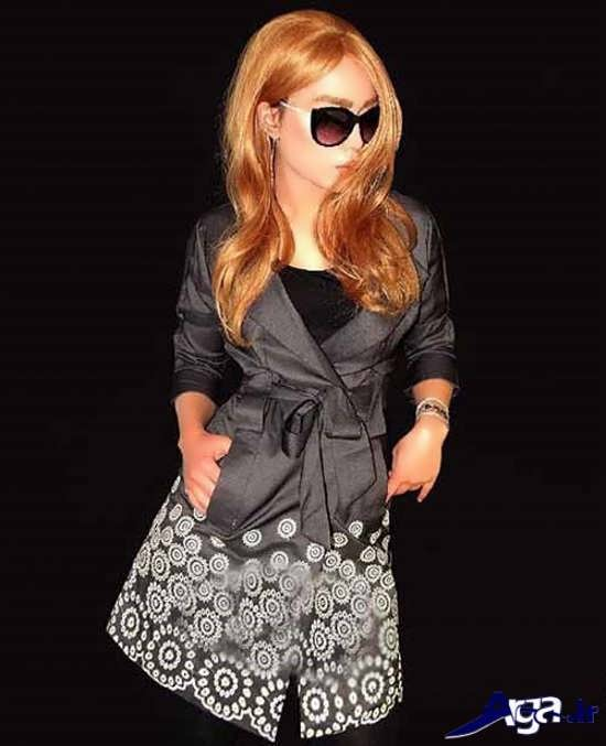 مدل مانتو دخترانه فانتزی حاشیه دار