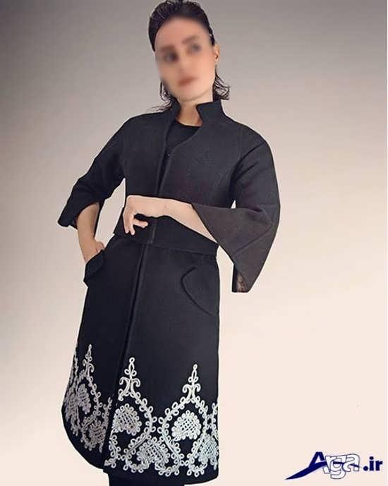 مدل مانتو پایین حاشیه دار مدل مانتو حاشیه دار زیبا و شیک برای خانم های باسلیقه