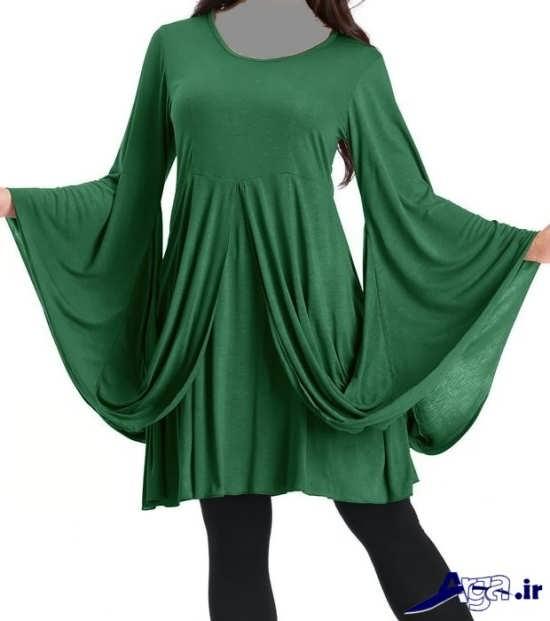مدل تونیک سبز رنگ ریون