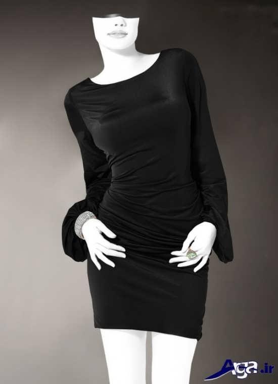 مدل تونیک رنگ تیره ریون