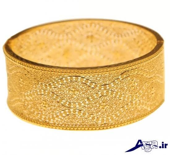 مدل النگو پهن طلا جدید
