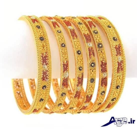 مدل النگو طلا با سنگ فیروه جدید