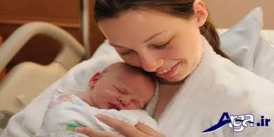 راست خوابین نوزاد برای گرفتگی بینی