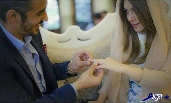 حلقه عروسی رضا قوچان نژاد با سروین بیات