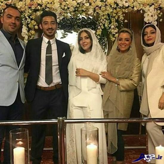 عکس دسته جمعی ازدواج رضا قوچان نژاد و سروین بیات