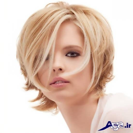 مدل مو کوتاه رنگ شده دخترانه